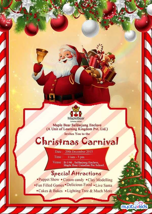 Christmas Carnival Maple Bear Canadian Pre School In