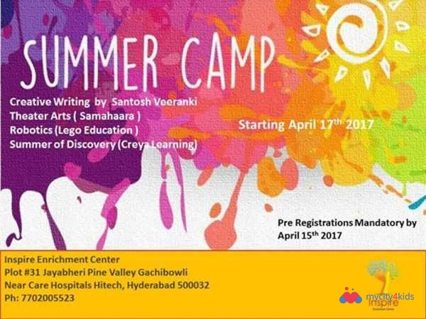 Summer CAMP at Inspire Enrichment Center 2017 in ...