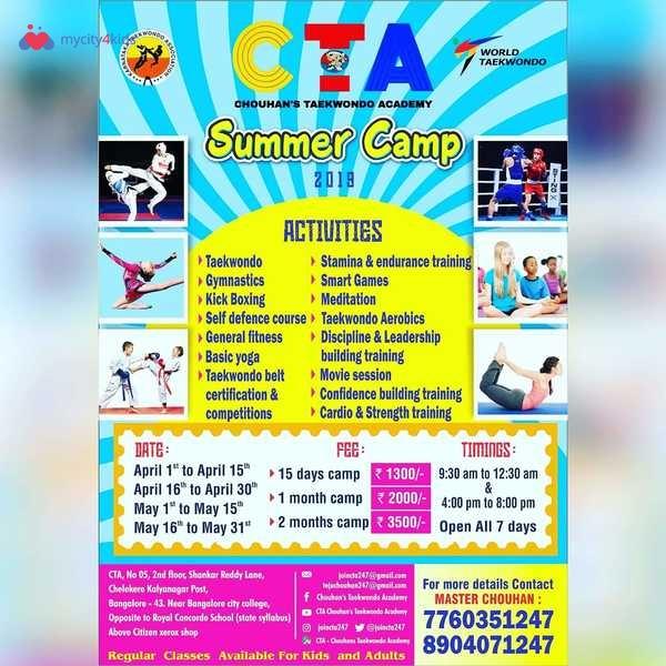 Chouhans Taekwondo Academy Summer Camp in Kalyan Nagar, Bangalore