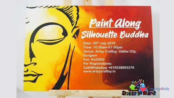 Paint Along- Silhouette Buddha by Artsy Craftsy in Sector 49 Gurgaon