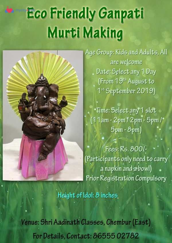 Eco Friendly Ganpati Idol Making Workshop in Chembur, Mumbai